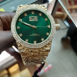 18k gold layered nugget watches